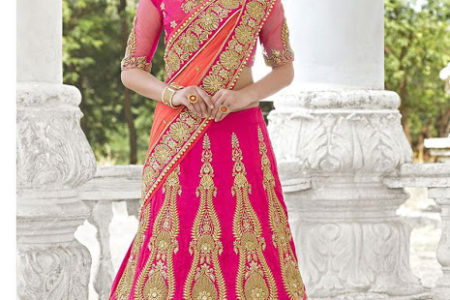 Pink Lehenga for a bride indian