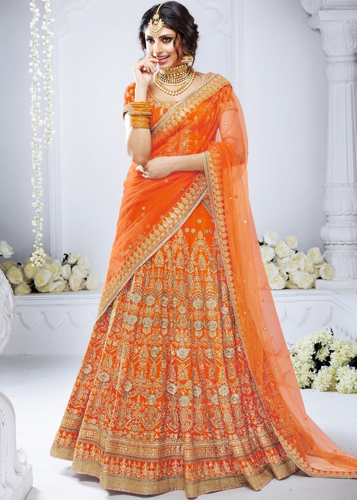 Stunning Orange Lehenga for a Bride to be