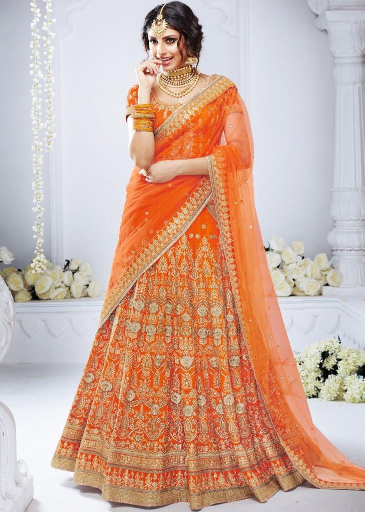 Stunning Orange Lehenga for a Bride to be