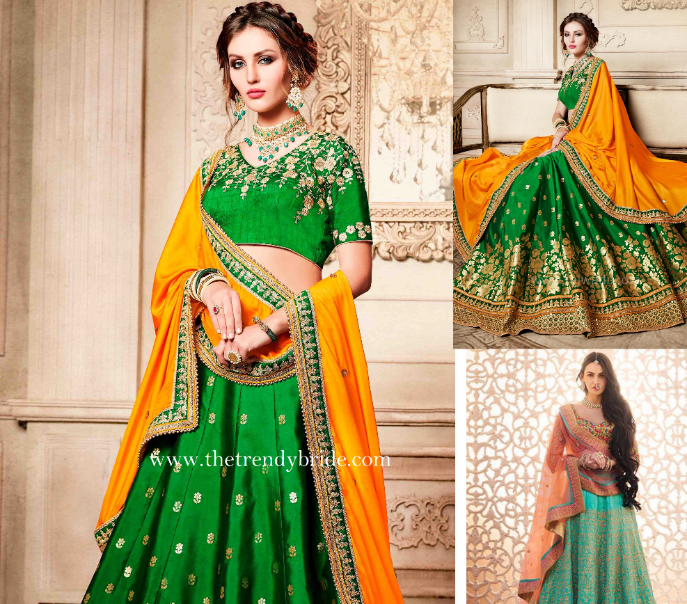 10 Stunning Green Color Lehenga Designs for your Sangeet Ceremony