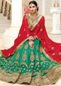 Green Color Lehenga Designs for your Sangeet Ceremony