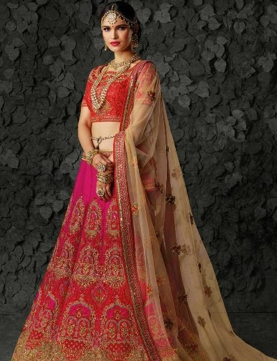 Red lehenga for an Indian Bride